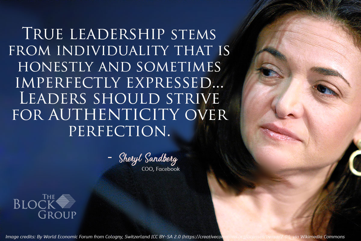 Advice from:  Sheryl Sandberg, COO, Facebook