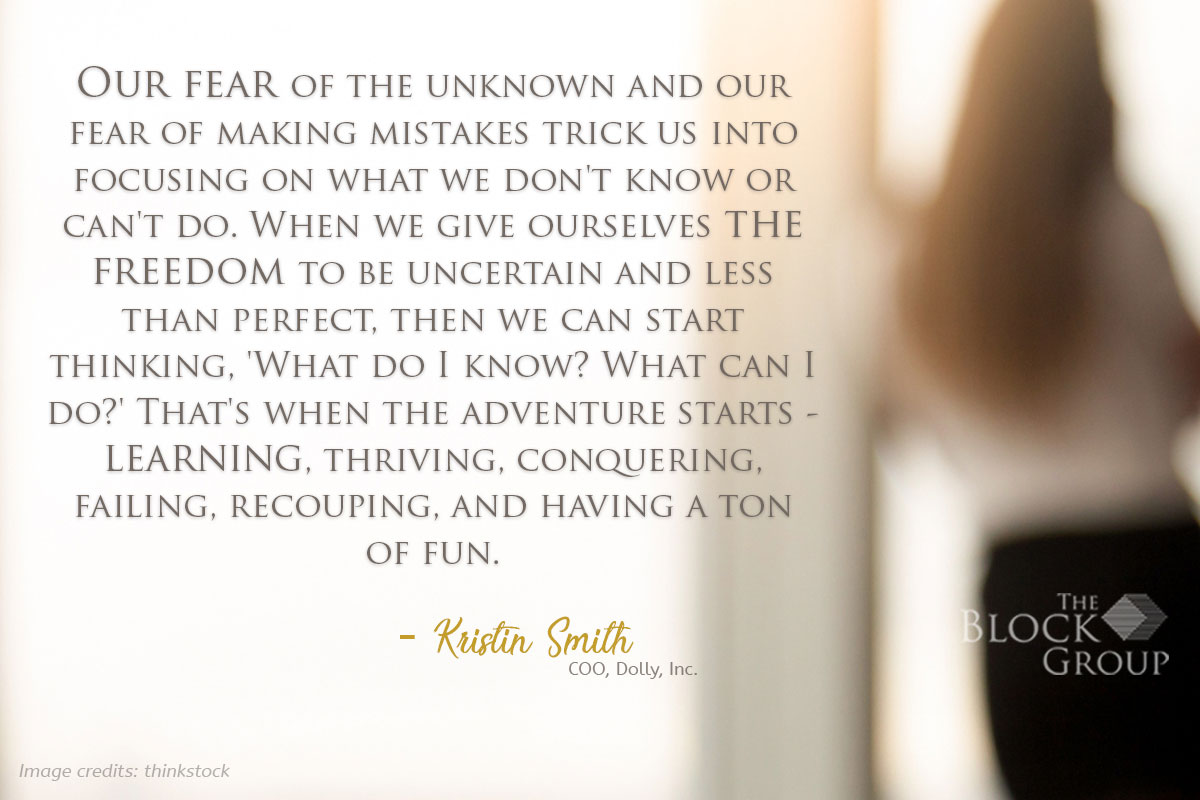 Advice from: Kristin Smith, COO, Dolly, Inc.