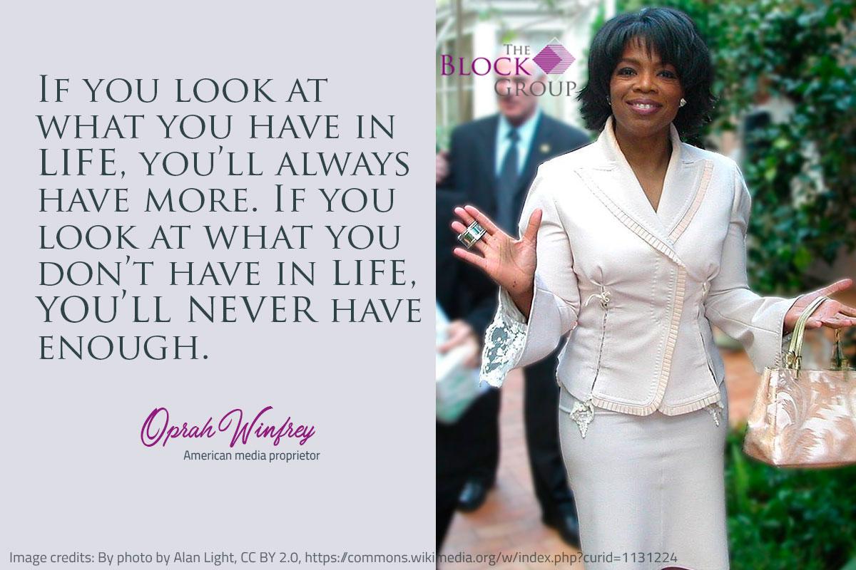 Advice from Oprah Winfrey